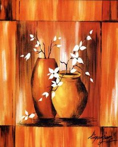 Flower Printed Canvas Art with Stretched Frame - Wall Art Ideas
