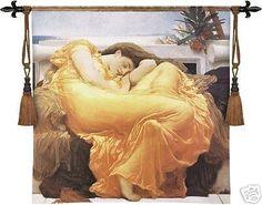 312c4edadb6 Flaming June Sleeping Lady Woman Romantic Pic Tapestry  WallDecor Puerto  Rico