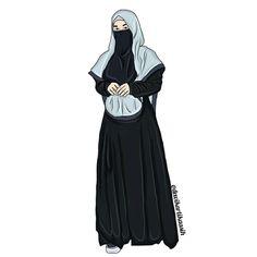 630 Gambar Muslimah Face Veil Burqa And Niqab Cartoon Terbaik Di