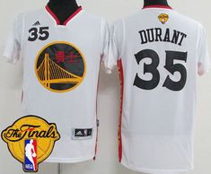 Warriors  35 Kevin Durant White 2017 Chinese New Year The Finals Patch Stitched  NBA Jersey 83a906359