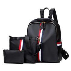 237fe6a6f9 Mochila 3 Pcs Set Women Backpacks Female Casual Travel bag School Bags for  Teenagers Shoulder