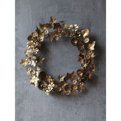 Gilded Metal Flower Wreath D. Rustic metal year round wreath for the garden lover Wire Wreath, Grapevine Wreath, Fall Wreaths, Christmas Wreaths, Fox Decor, Year Round Wreath, Creative Co Op, Metal Flowers, Christmas Home