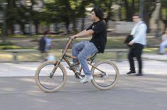 Las bicis de bambú son ecológicas y resistentes. (Foto: Marcelo Escayola)