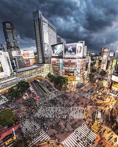 Explore wonderful places in Tokyo ▶️ . Dark clouds over the shibuya district (? Shibuya Tokyo, Tokyo Japan, Tokyo City, Beautiful Places In Japan, Wonderful Places, Tokyo Travel, Asia Travel, Places In Tokyo, Aesthetic Japan