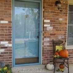 how to paint your front door and metal framed storm door, doors, home decor, painting