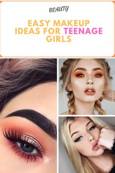 Easy makeup ideas for teenage girls trendy! Easy Makeup, Simple Makeup, Natural Makeup, Makeup Ideas, Teenage Girl Makeup, Girls Makeup, Aloe Vera Skin Care, Elegant Makeup, Perfect Makeup