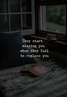 Missing You Quotes They'll start missing you if they can't replace you. # Hurtfulquotes Miss you quotes Kathrin Retthofer KathrinErpunkt ♡TRUE♡ Missing You Quotes They'll start missi Quotes Deep Feelings, Hurt Quotes, Mood Quotes, Life Quotes, Regret Quotes, Wisdom Quotes, Woman Quotes, Unrequited Love Quotes, Quotes Quotes