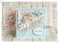 Scrap Art by Lady E: 1 Die Cut Frame 2 Cards - Wild Orchid Crafts DT