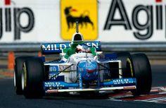 Jean Alesi (Benetton-Renault) Grand Prix de Hongrie - Hungaroring 1996