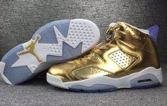 AJ6 Nike Air Jordan 6 VI Retro Pinnacle Metallic Gold 854271 730 mens Trainers…