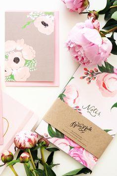 Beautiful notebook & blooms!