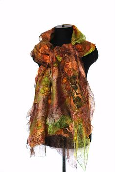 Nuno Felted Textured Scarf Wrap by FeltedPleasure, via Flickr