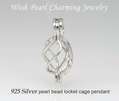 10PCS Silver Tone Horse Shaped Pearl Cage Beads Locket Pendant Fit DIY Necklace