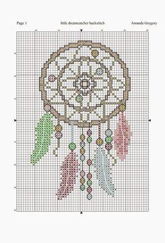 Amanda Gregory cross-stitch design: a little dreamcatcher free chart