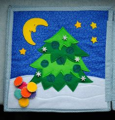 decorate the Christmas tree Cotton book with felt details