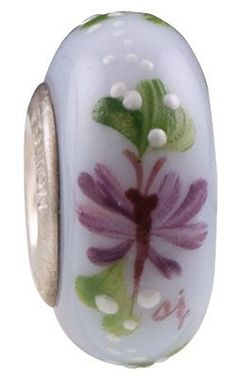 Fenton Art Glass Bead ''Mystic Butterfly'