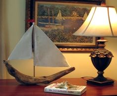 Wood Craft Idea for Beachcombers -16 Unique Driftwood Sailboats