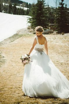Taupe Sash on Bridal Gown | photography by http://chantelmarie.com/