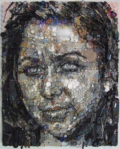 Human Face Art Composed of Junk Parts