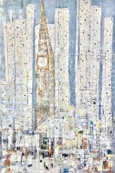 "Saatchi Art Artist Matthias Lupri; Painting, ""A TimeTower Twilight Innocence"" #art"