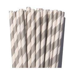 striped straws + bar cart essentials