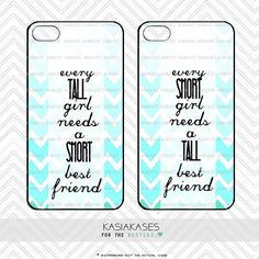 BFF Case / Short and Tall Bestie iPhone 4 Case Best Friends iPhone 5 Case iPhone 4S Case iPhone 5S Case One For Your BFF Set Phone Case Gift by KasiaKases on Etsy https://www.etsy.com/listing/187889991/bff-case-short-and-tall-bestie-iphone-4