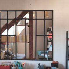 Fabriquer une verrière d'intérieur en miroirs - Marie Claire Idées
