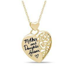 """Elegant Mother Daughter Necklace, 925 Silver, Silver Plated """"Mother & Daughter Forever"""" Necklace - Poppy Co-op Mother Daughter Necklace, Necklace For Girlfriend, Mom Daughter, Necklaces With Meaning, Girls Necklaces, Gold Pendant Necklace, Silver Necklaces, Silver Jewellery, Jewlery"""
