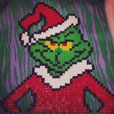 The Grinch - Christmas perler beads by perlerbeadsdork