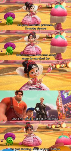 I love her so much. XD // one of my favorite scenes :D Go Vanellope Van Schweetz! <3