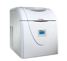 Ice Maker    DIM1524W | 33.00 lbs    Our compact portable ice maker is just what you need for fabulous entertaining! It makes up to 33 lbs. of ice in 24 hours and can produce its first batch of ice in less than 10 minutes. You don't even need direct plumbing - simply fill the reservoir with water, select your cube size and wait. It's ice'n'easy!