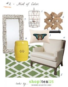 How to use a hint of color to create a Nantucket themed look using pieces from Shop Ten 25. See more on @Tobi Fairley 's blog.