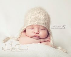 Knitting PATTERN - Baby Earflap Knit Hat Pattern - Instant Download Knitting Pattern - PDF 144 - Newborn to 12 Months - Photo Prop on Etsy, $5.71 CAD