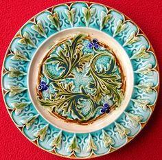 Antique French Acanthus Leaves Renaissance Plate C1880   eBay
