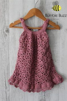 Chantilly - Rose - Cotton Baby Dress