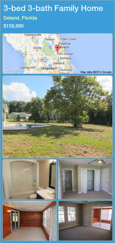 3-bed 3-bath Family Home in Deland, Florida ►$159,990 #PropertyForSaleFlorida http://florida-magic.com/properties/61415-family-home-for-sale-in-deland-florida-with-3-bedroom-3-bathroom