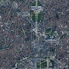 Brussels. I never realised just how many geometric patterns it presents from an aerial perspective.