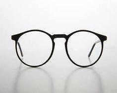 Oversized Secretary Round Preppy Schoolboy Eyeglasses - Cornell