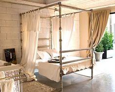Master Bedroom Bed Frame- in black pipe