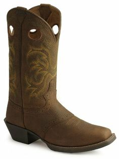 Justin Boots Men's Stampede Western Boot,Dark Brown Rawhide,9.5 D US - http://authenticboots.com/justin-boots-mens-stampede-western-bootdark-brown-rawhide9-5-d-us/