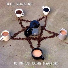 Coffee pentagram