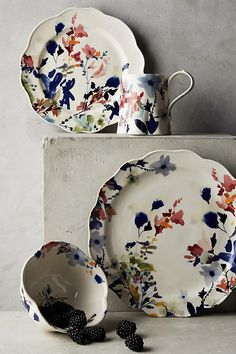 Wildflower Study Dinner Plate (and Collection) from Anthropologie by Jen Garrido $24