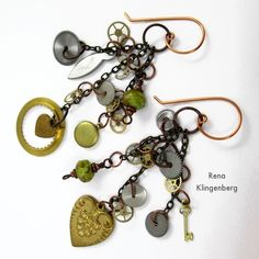 Boho Steampunk Earrings - tutorial by Rena Klingenberg