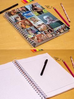 FA Foto Design - Caderno universitário Personalizado - Personalize seu caderno universitário com suas fotos!  Detalhes:  - Capa dura - Tamanho 23x29,7cm (miolo: 21x29,7cm) - Encadernação em wire-o branco - Miolo com 100 ou 200 páginas em papel sulfite 75g branco pautado