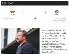 Viktoria Plzeň v prvním kole Fortuna Ligy předvedla velký obrat na hřišti pražské Dukly, kde sice prohrávala 0 - 1, ale nakonec po vítězství 3 - 1 slavila tříbodový zisk