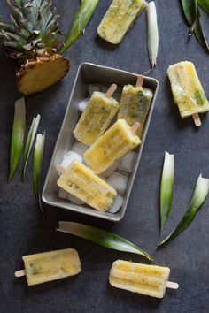 Pineapple Mint Popsicles