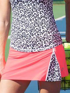JoFit Zippy Tennis Skort with zip detail to reveal cheetah print at #golf4her.com
