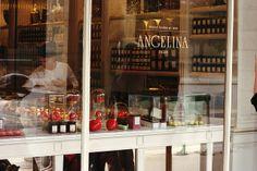 Angelina, Paris – a short walk from the Louvre, along the Rue de Rivoli – the best hot chocolate! ;)