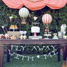 Hot air balloon ideas for your wedding day!