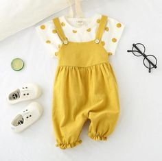 Baby Girls Clothing Set Overalls Newborn Toddler Infant Girl Clothes T-shirt Top Bib Pants Romper Ruffles Princess Outfits Little Girl Outfits, Kids Outfits Girls, Cute Girl Outfits, Cute Outfits For Kids, Baby Girl Pajamas, Baby Girl Pants, Baby Girls, Smocked Baby Clothes, Girl Doll Clothes
